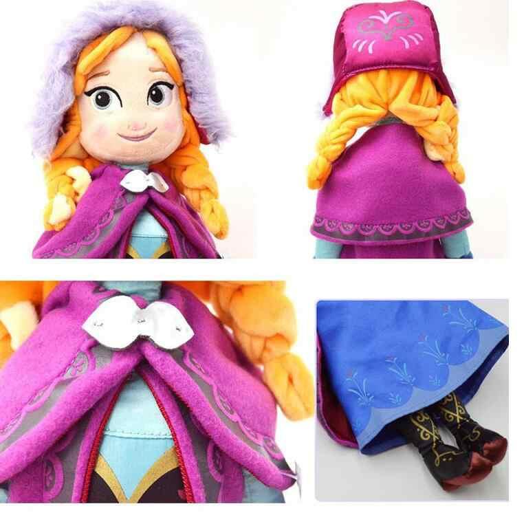 Кукла Снежная королева Эльза, 40/50 см, мягкие игрушки в виде Анны и Эльзы, мягкие плюшевые детские игрушки в подарок