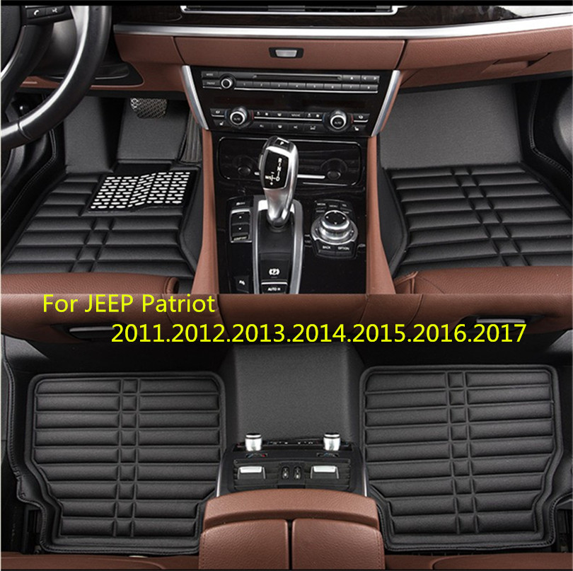 For JEEP Patriot 2011-2017 Car Floor Mats Foot Mat Step Mats High Quality Brand New Waterproof,convenient,Clean Mats for chery fulwin2 hatchback 2013 2017 car floor mats foot mat step mats high quality brand new waterproof convenient clean mats