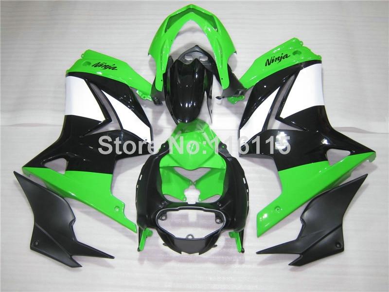 Fit for Kawasaki Ninja fairings 250r 2008-2013 2014 injection molding ZX250 08-14 green black motorcycle fairing kit EX250 NZ9