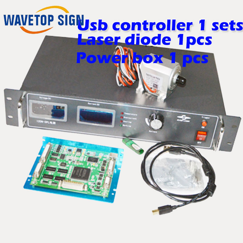 usb yag laser control card 1sets analog signal control+ laser diode 50w 1pcs+laser power box 50w 1pcs+power box 5v3A 1pcs 7mbr25sa120 50 1pcs