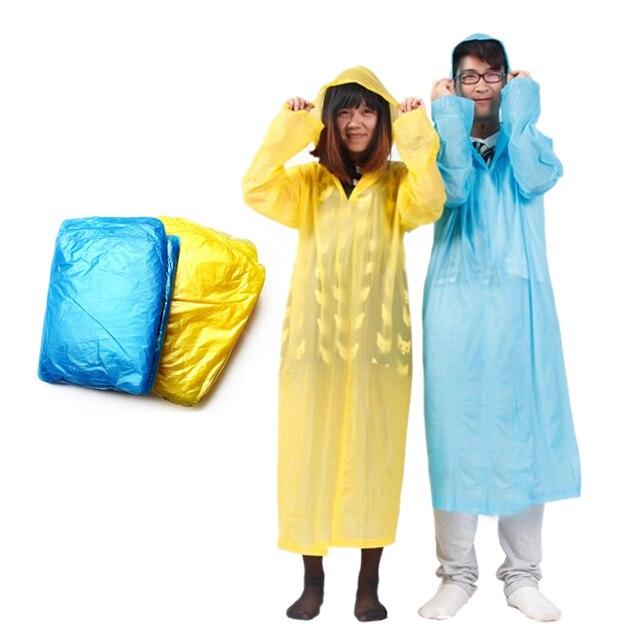 1 pcs Adulto One-Time de Emergência À Prova D' Água Pano Unisex Capa De Chuva Viagem Camping Casacos De Chuva Cor Aleatória