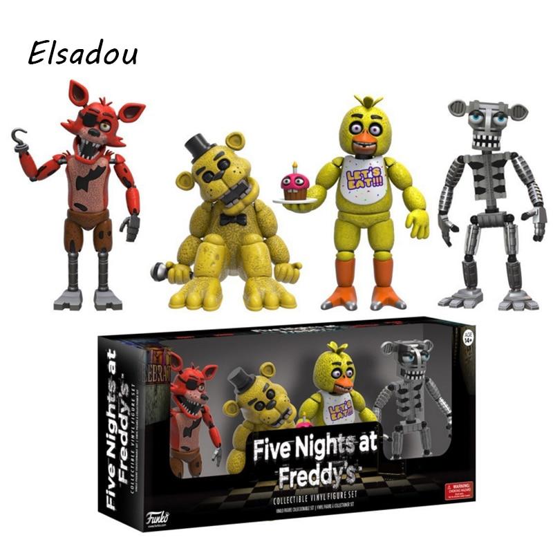 Elsadou Original Five Nights At Freedy's Action Figure Set Fnaf Collection Toys for Children