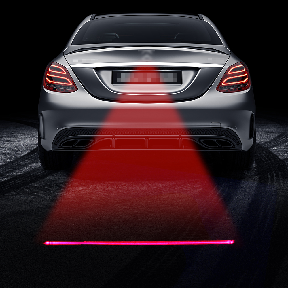 Car Anti-collision Laser Fog Light Auto Anti-fog Parking Stop Braking Signal Indicators Motorcycle LED Warning Light Car-Styling стоимость