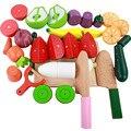 Kit de Presente de natal Casa de Jogo Magnético das Crianças Brinquedos de Cozinha Simulação de Corte de Madeira de Frutas Vegetais Alimentares Melancia Brinquedos Do Bebê