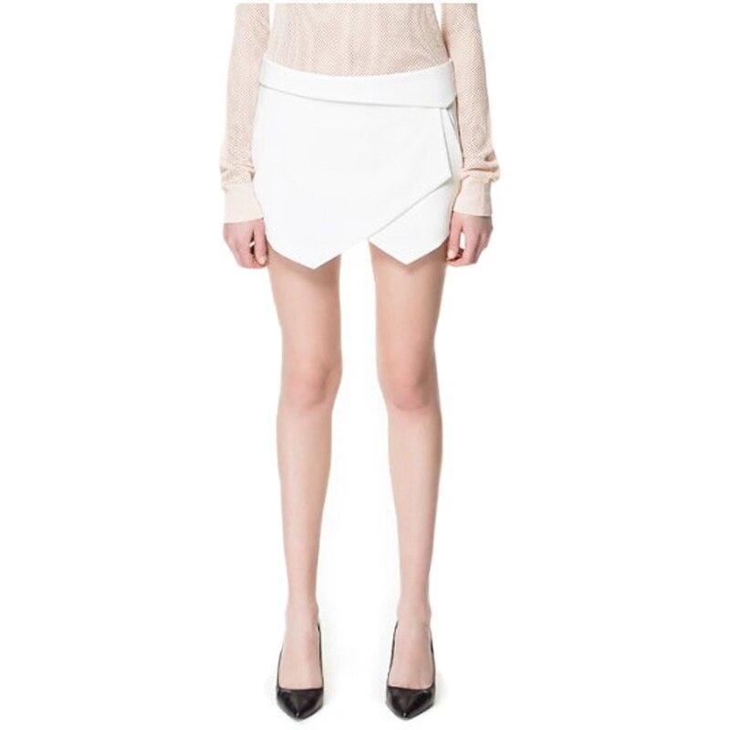 2015 3 colors womens tiered shorts irregular zipper