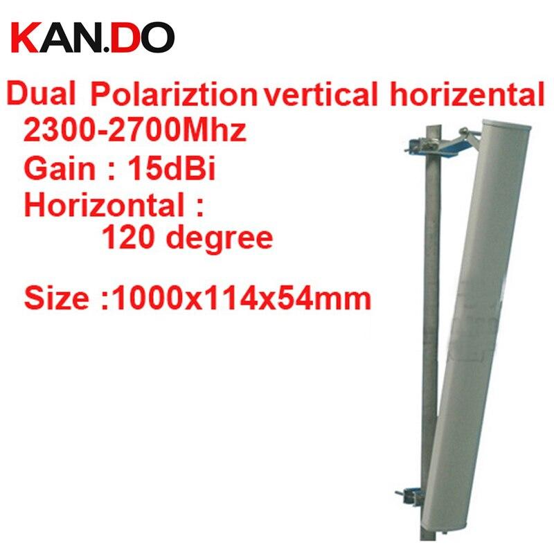 15dbi polarisation horizontale verticale 120 deg 2.3-2.7G antenne panneau 2.4G wifi antenne Base station FDD 4G antenne, antenne TDD