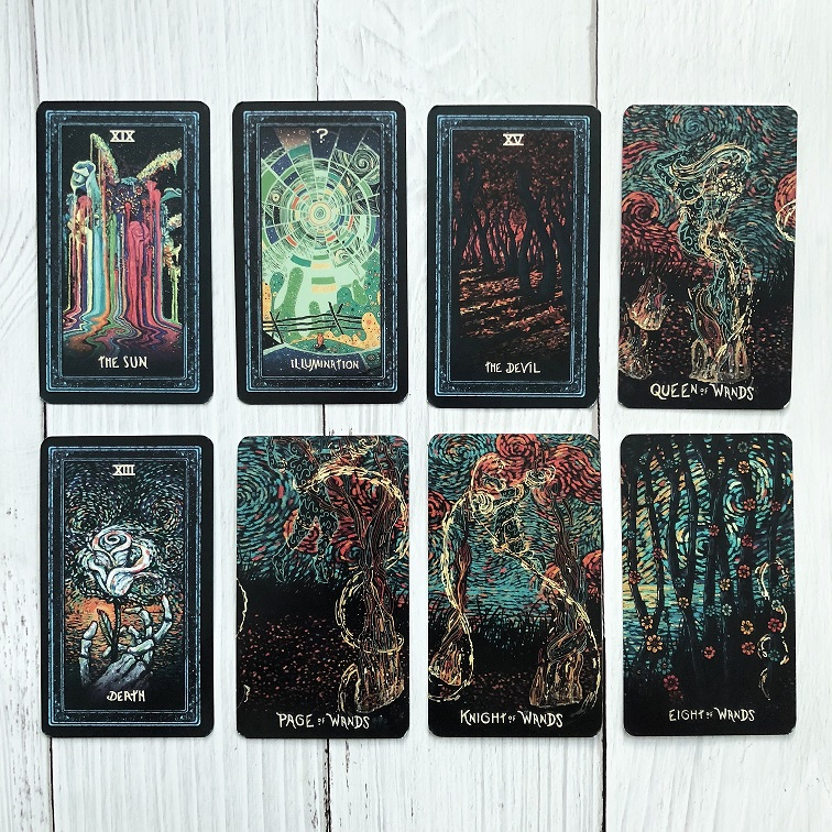 Details About Deck 78 Tarot Cards English Diy Silver Plating Prisma Visions Tarot Board Game