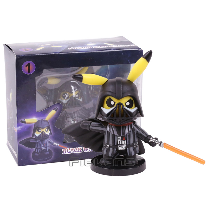 Pikachu Cosplay Star Wars Darth Vader PVC Figure Collectible Model Toy Brinquedos 10cm 2016 new pikachu action figure hot pikachu toy anime collectible model d