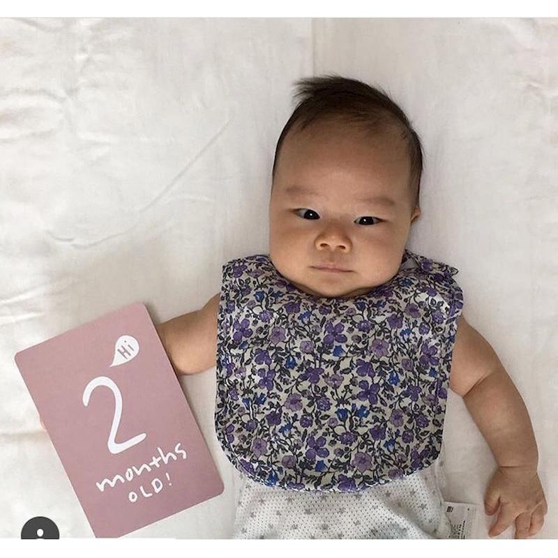 40PCS Baby Growth Memorial Cards Pregnant Bebes Child Growth Calendar Neonati Babies Items Erkek Bebek Baby Photos Decoracion