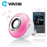 VONTAR RGB Беспроводной Bluetooth Динамик лампа Музыка Воспроизведение энергосбережения RGB Soptlight E27 светодиодный свет лампы с дистанционным Управле...