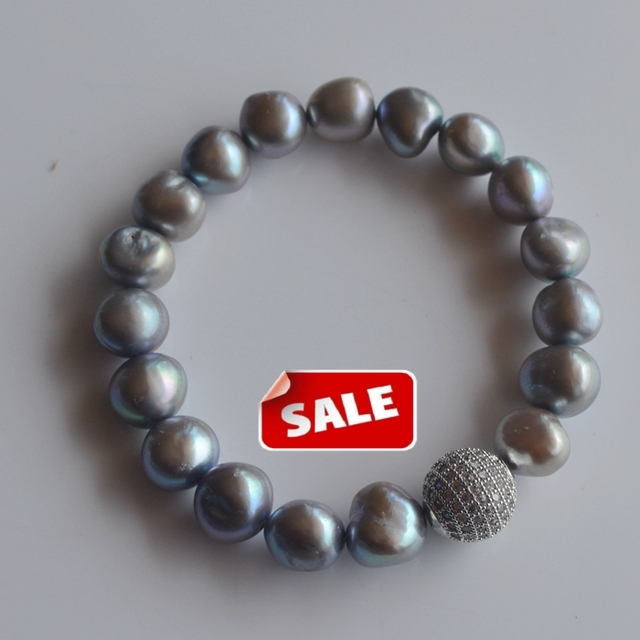 women jewelry 10-11mm natural baroque freshwater pearls irregular shaped Bracelet