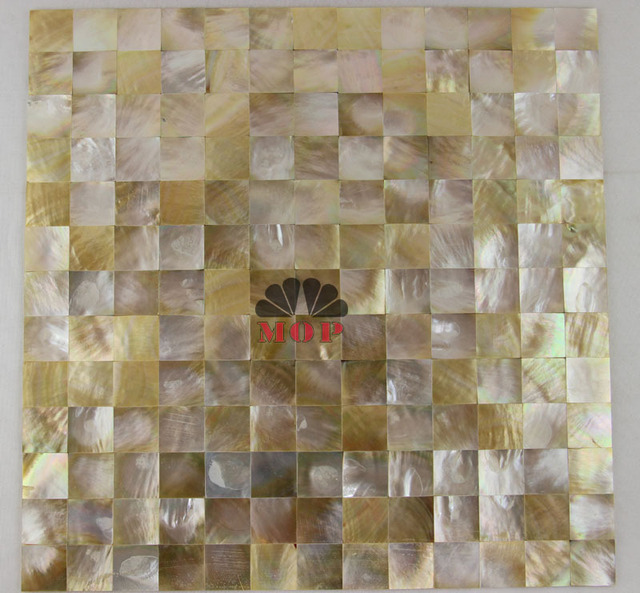 Yellow Lip Shell Mosaic Tile Mother Of Pearl Backsplash Bathroom Construction Material Distributor