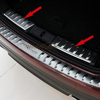 Fit For Jaguar F-pace 2016 2017 2018 Stainless Car Rear Bumper Sill Plate CoverFit For Jaguar F-pace 2016 2017 2018 Stainless Car Rear Bumper Sill Plate Cover