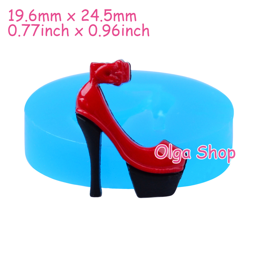FYL089 24.5mm High Heeled Shoe Flexible Silicone Push Mold ...