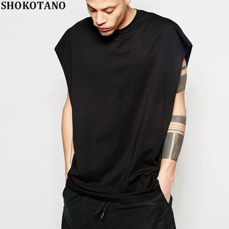SHOKOTANO Men Summer Hip Hop Sleeveless   Tank     Top   Men's O-neck Fashion Cotton Solid Streetwear   Tops     Tanks   Homme 2018 New