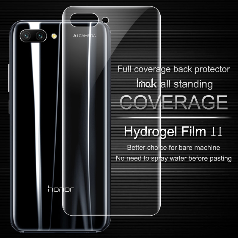Imak Anti Glare Hydrogel Film 2th Gen for HUAWEI Honor 10 3D Full Cover for HUAWEI Honor 10 Back Screen Protector No Wipping