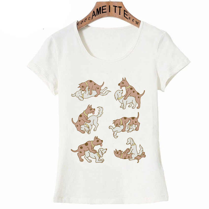 a77e367544 Detail Feedback Questions about Erotic Couple Dog Kamasutra Cartoon Style  Funny T Shirt Summer Fashion Women T Shirt Girl Casual Tops Cool Woman Tees  on ...