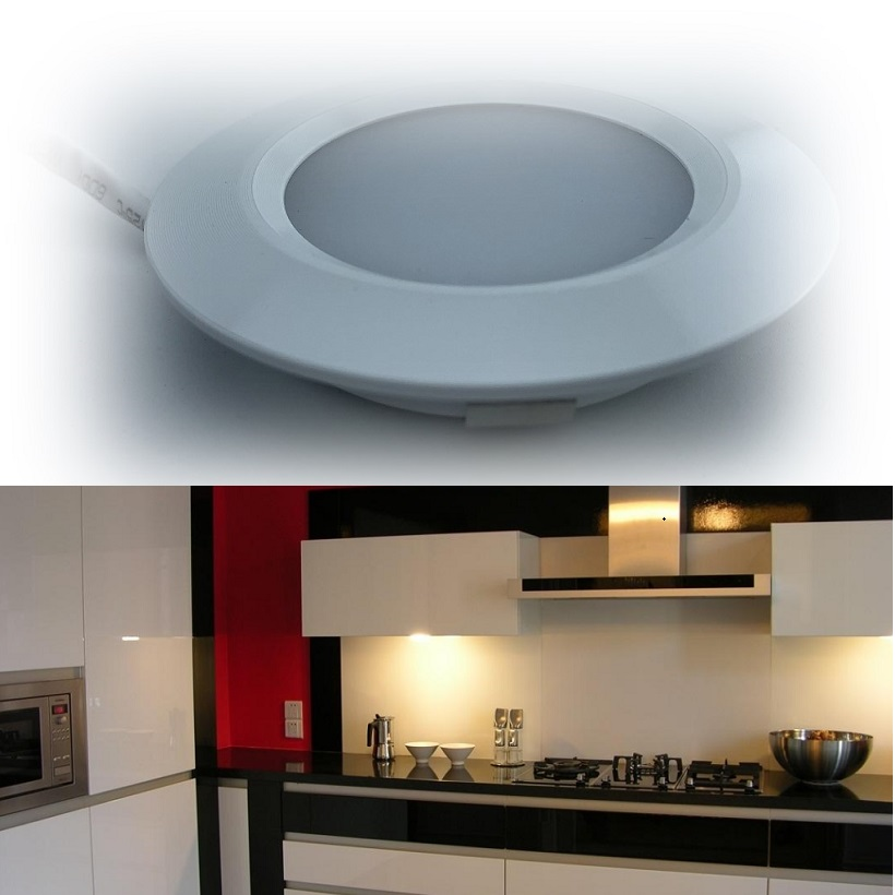 DC 12V LED Under Cabinet Lights Dimmable Down/Dome Lamp 3000k 4000k 6000k Ceiling/Roof Lighting Kitchen/Counter/Wardrobe(China)