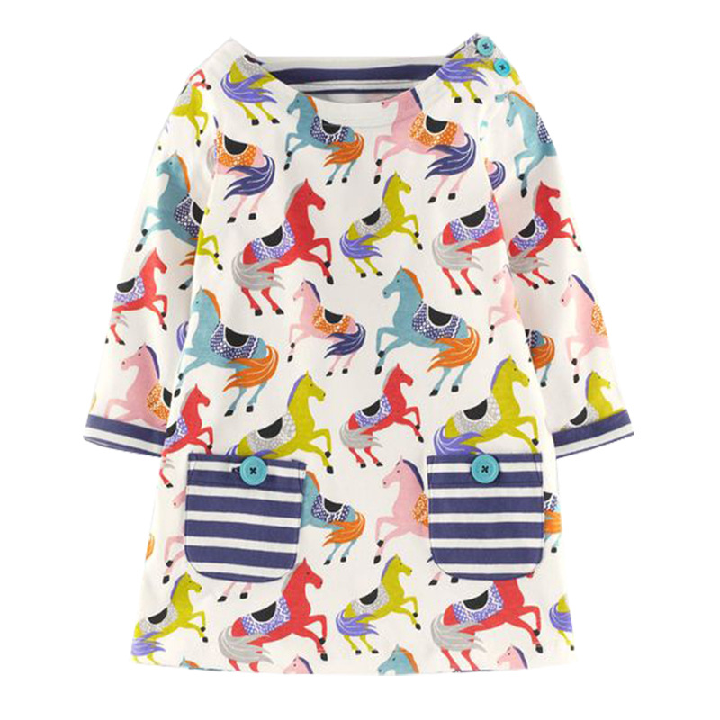 VIDMID Girls dresses font b baby b font girl long sleeve dress cotton dress for girl