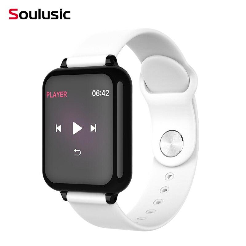 Mulheres B57 Soulusic Smartwatch À Prova D' Água Esportes Para iPhone Android Monitor de Freqüência Cardíaca Função da Pressão Arterial pk w34 iwo 8