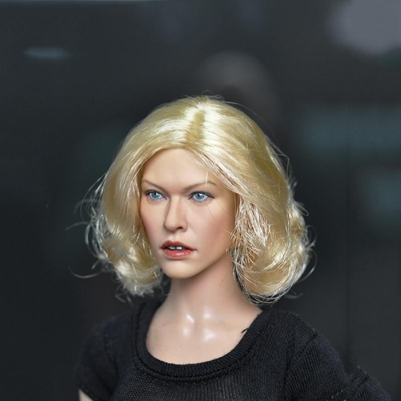 1/6 Resident Evil Milla Jovovich Head Sculpt for  12Figures Bodies 1/6 Resident Evil Milla Jovovich Head Sculpt for  12Figures Bodies
