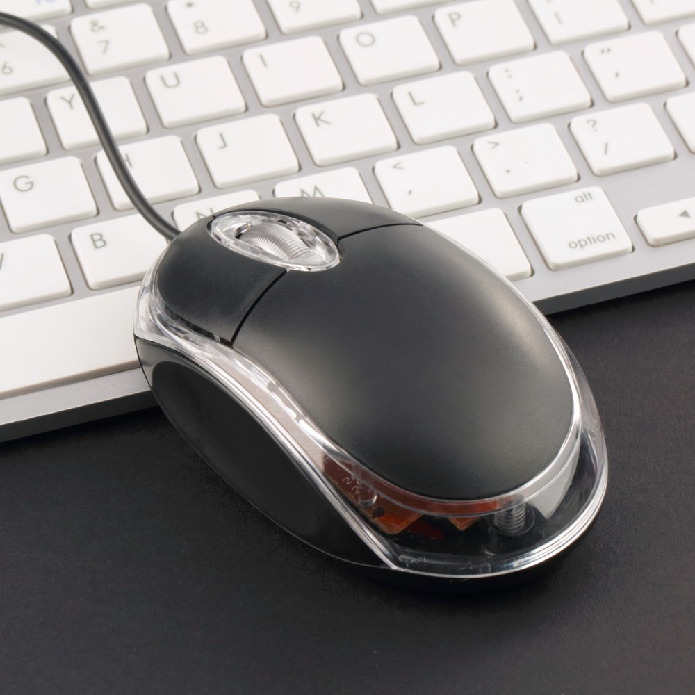 Ergonomic Design USB Wired Optical Maus Gaming Mouse Gamer LED For DELL ASUS Computer Laptop Black