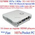 Супер вкладыш пк windows 8 mini пк X3700M с Intel Celeron 1037U двухъядерный 1,8 ггц 2 G RAM 16 G SSD