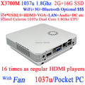 Super pocket pc windows 8 mini pc X3700M com Intel Celeron 1037U Dual Core 1.8 GHz 2 G RAM 16 G SSD