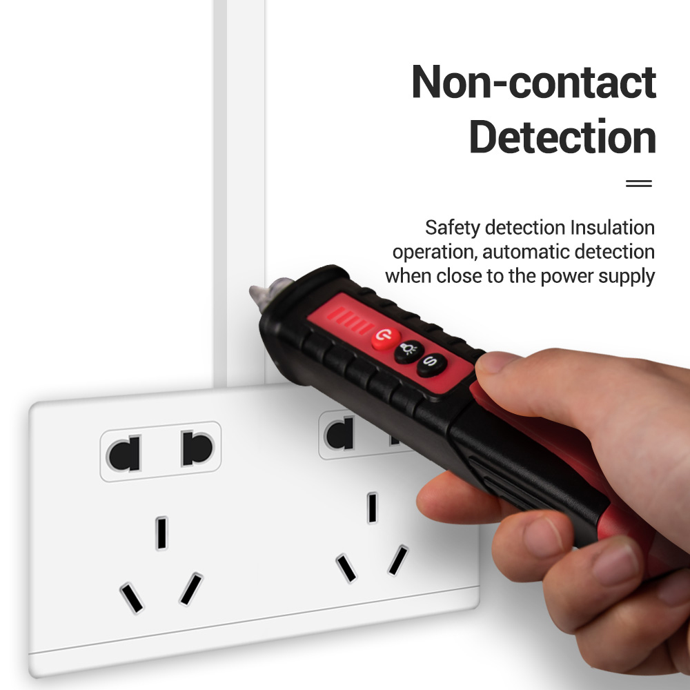 Digital Non Contact AC Voltage Detector Pen to Measure Up to 12 to 1000V Voltage Range 4