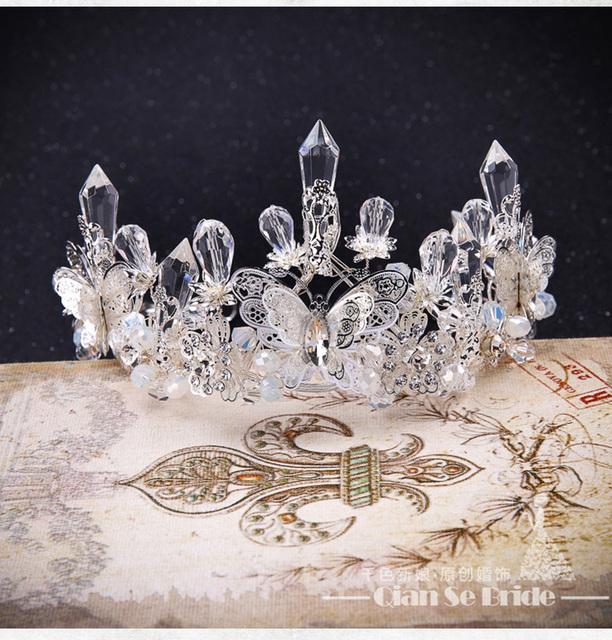 Princesa Chapéu De Noiva Acessórios Do Casamento Coroa De Noiva Cabelo de Cristal Liga Barato Imagem Real Frete Grátis Em Estoque Nupcial Headpiece