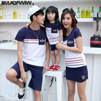 IIMADFWIW Family Matching Outfits Summer Family Clothing Set Family Look Family Matching Clothes For Boy Girl