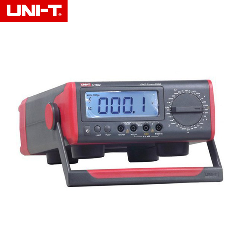 UNI-T UT802 AC/DC Powered 20000 Counts Manual Range Digital Bench Type Multimeter 200OHM hot sale ut802 uni t bench type digital multimeter automotive multimeter