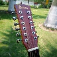 Гитара 12 струнная акустическая электрическая Сталь String баллады в народном стиле поп Flattop 41 дюймов Picea Asperata Guitarra свет в разрезе электро