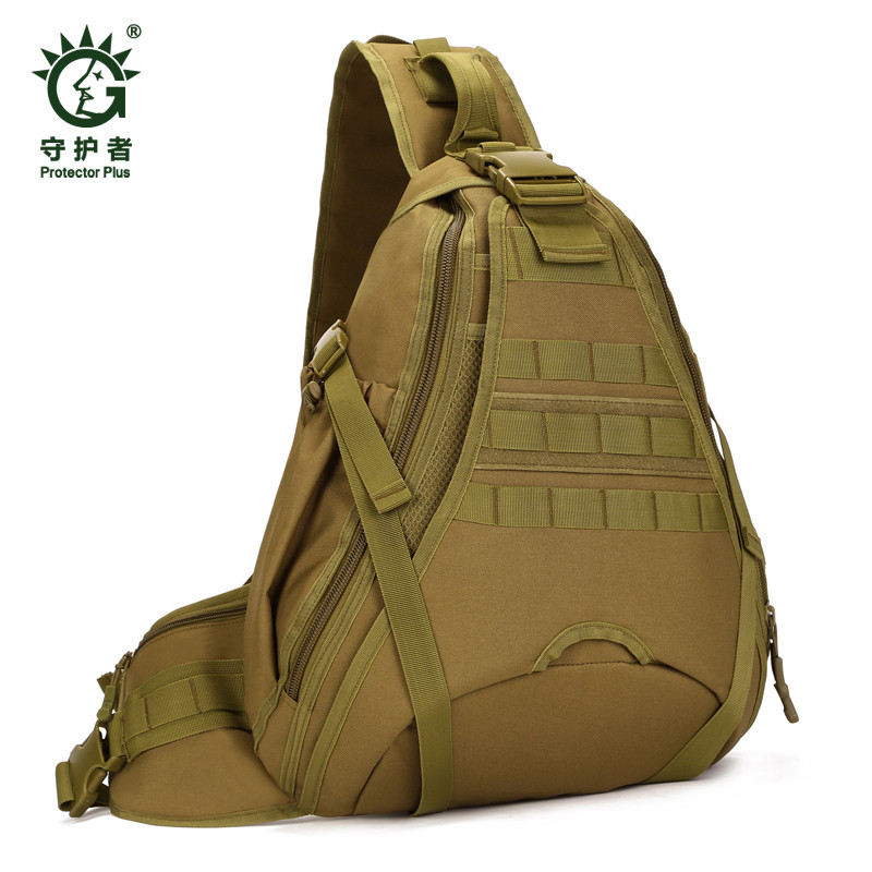Men's bags chest package high grade ultra-large wearproof nylon travel bag camouflage backpack 14 inch computer girl