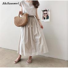 Maxi T Shirt Dress Summer Dress 2019 Women Cotton Short Sleeve Casual Elegant Vintage Solid Loose Long Beach Dresses Robe Femme