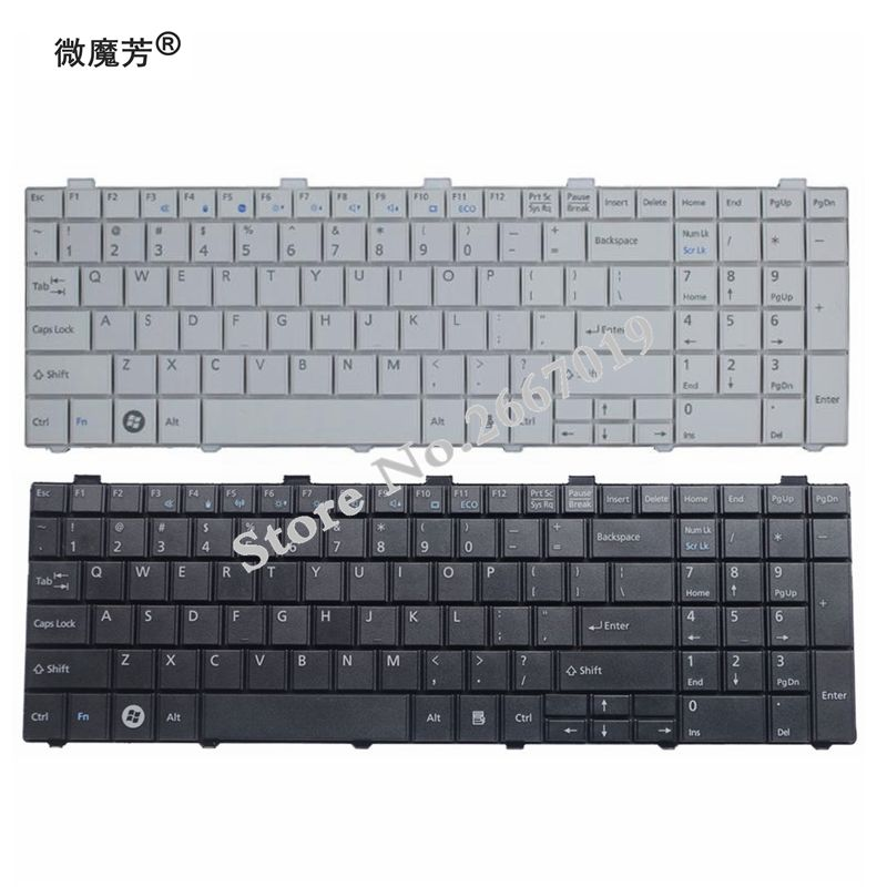 New US Keyboard For Fujitsu Lifebook AH530 AH531 NH751 A530 A531 Black English Laptop Keyboard
