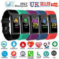Astuto Della Vigilanza Della Fascia di Sport di Fitness Activity Tracker Orologio Pressione Sanguigna Salute Wristband Per I Bambini Si Adattano bit Android iOS