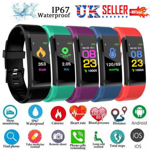 Relógio inteligente Esporte Banda de Fitness Rastreador Atividade Relógio Pressão Arterial Saúde Pulseira Para Crianças Fit bit Android iOS