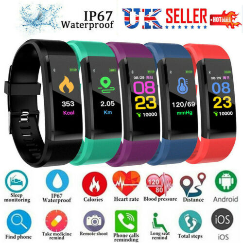 Smart Watch Band Sport Fitness Activity Tracker Blood Pressure Watch Health Wristband For Kids Fit bit Android iOS image