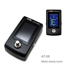 Best selling Metal stomp tuner AT-08 with 2-color screen light: green - in tune, white - out of tune