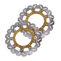 Arashi Front Brake Disc Rotors Set For YAMAHA FZ6 Naked/Non ABS 2 Piston Caliper (IB3/IB3D) & FZ6-Fazer 2004-2007