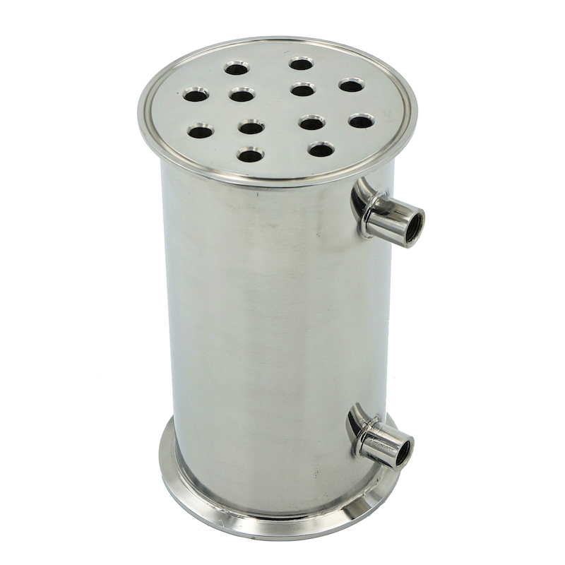 4 102mm OD119mm SS304 Condenser Dephlegmator Reflux Distiller Condenser 200mm 12pipes