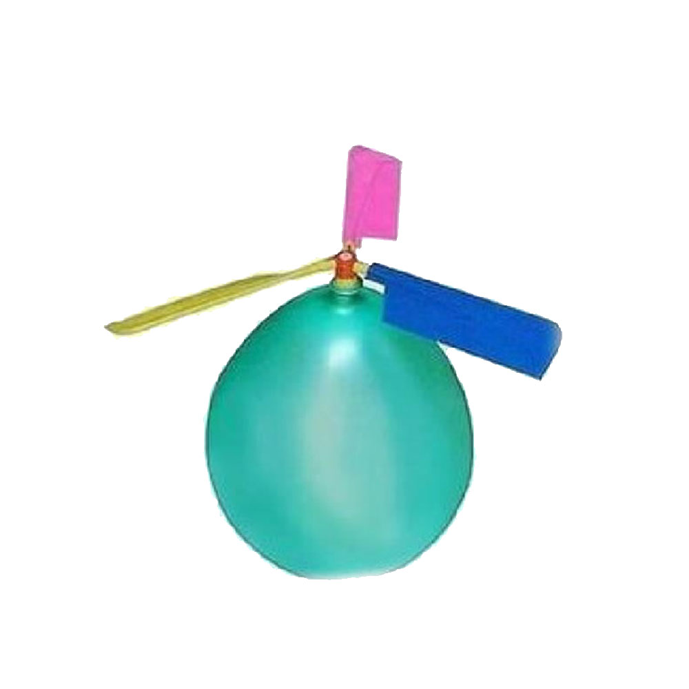 1 Set Classic Balloon Airplane Helicopter For Kids Children Flying Toy Gift Outdoors toys random color image