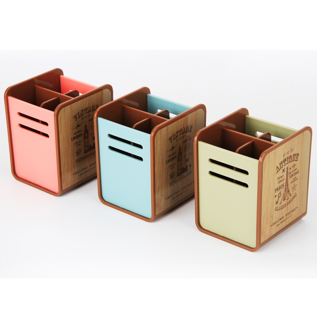Free Shipping Deli 9121 Creative Fashion Pen Holder Desk Organizer Storage Stationery Office Accessories School Supplies
