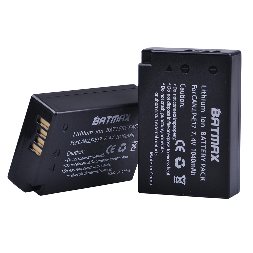 Image 3 - 2Pcs LP E17 LP E17 LPE17 Lion Battery for Canon EOS M3 M5 760D/800D/Kiss 8000D/Rebel T6s 750D/Kiss X8i/Rebel T6i/ M3-in Digital Batteries from Consumer Electronics