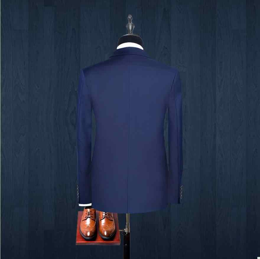 (ジャケット + ベスト + パンツ) 2018 春メンズファッションカジュアルメンズスリムフィットビジネス結婚式のスーツ男性の結婚式のスーツ新郎