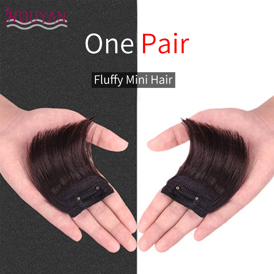 HOUYAN Straight Hair 100% Human Hair Top Hair Pad Long Extensions Clips In Black Brown Hairpiece For Women Hair Extension