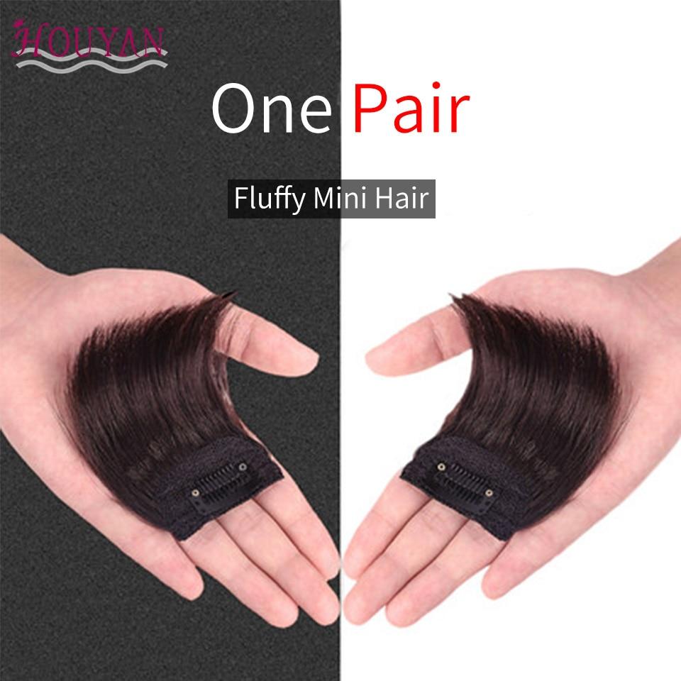 HOUYAN Straight Hair 100% Human Hair Top Hair Pad Long Extensions Clips In Black Brown Hairpiece for Women Hair Extension