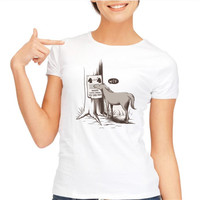 New Arrival Women Tshirt WTF Unicorn Plastic Surgery Only 199 Now Print Cotton White Women T