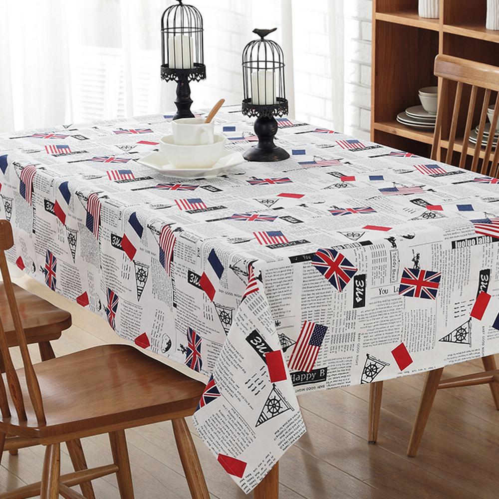 nueva ingls simple algodn y lino mantel pao de tabla cuadrado mantel moderno hogar productos textiles